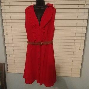 Ashley Stewart Red dress Sz 20